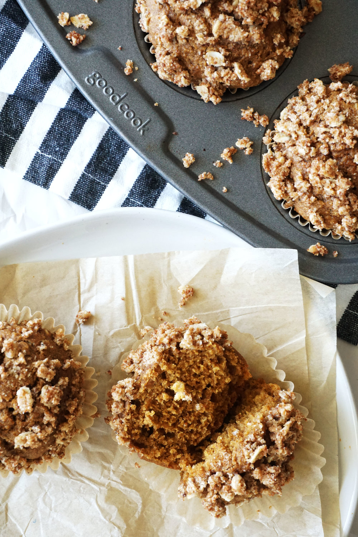 Maple Oatmeal Sweet Potato Muffins