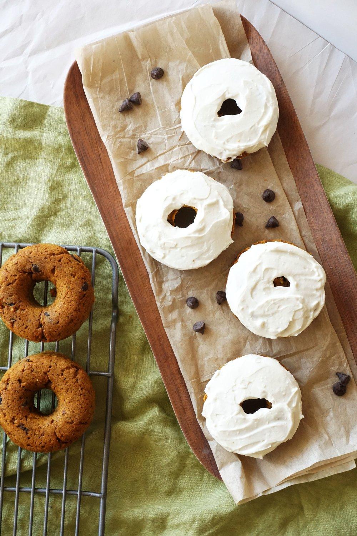 Pumpkin Chocolate Chip Donuts (Vegan Option)