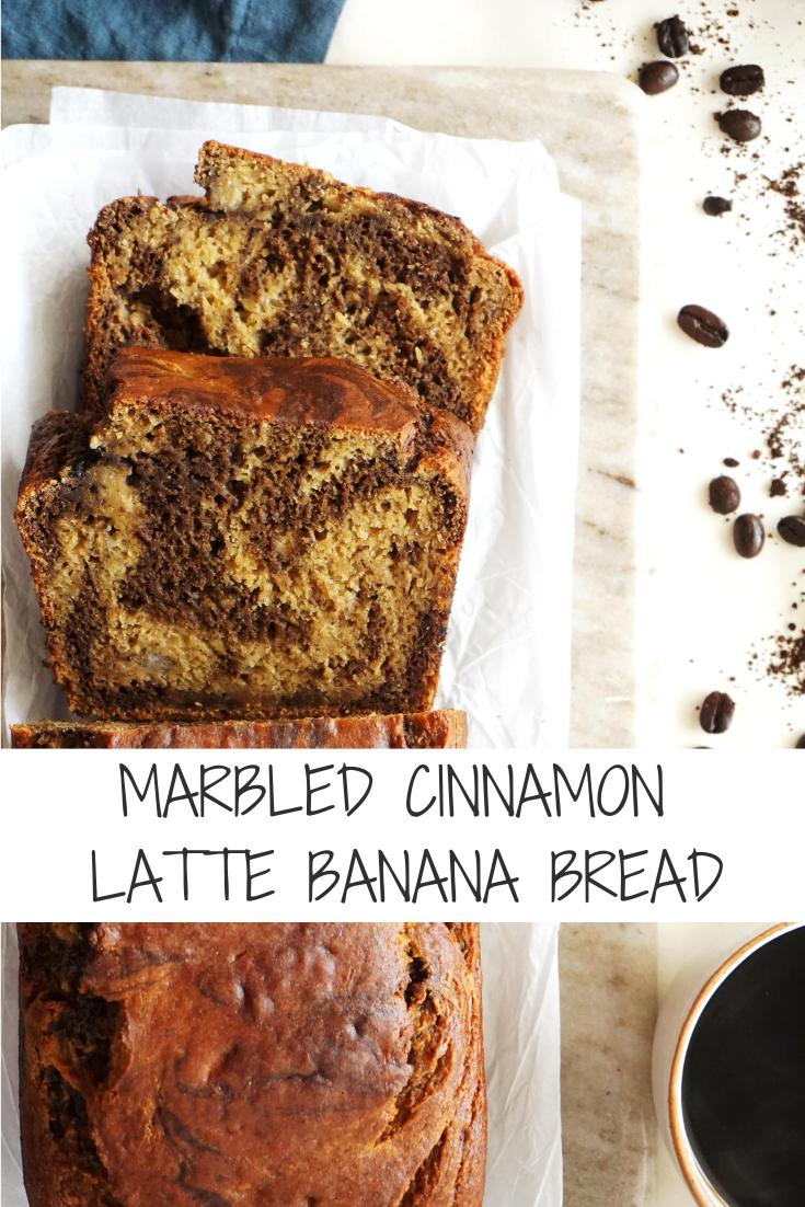 Marbled Cinnamon Latte Banana Bread