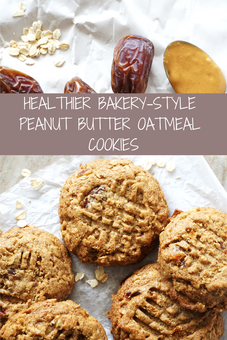 Healthier Bakery-Style Peanut Butter Oatmeal Cookies