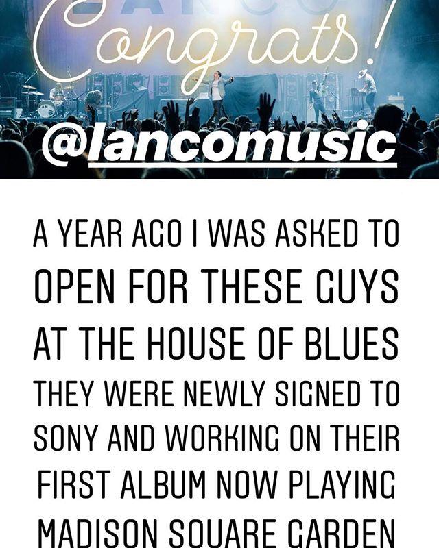 Good work gents! Jealousy & Happy for ya! @lancomusic @rustysherill