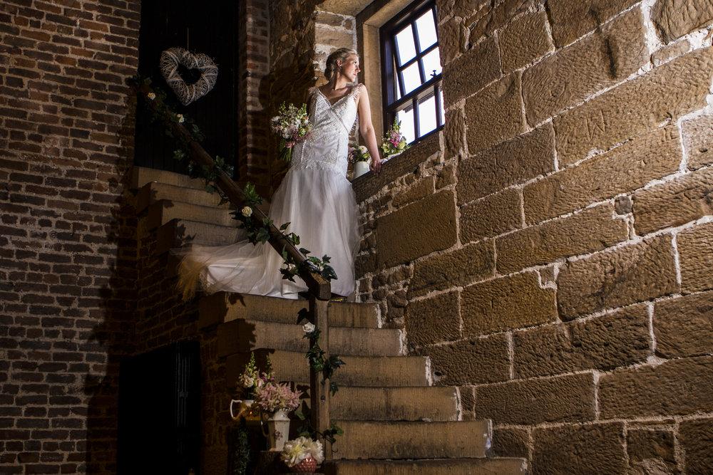 CHET bride stairs