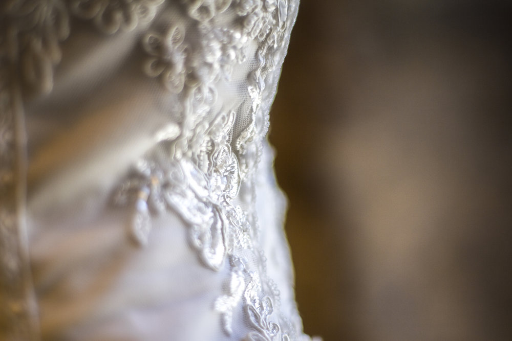 Crosby Hall wedding dress detail