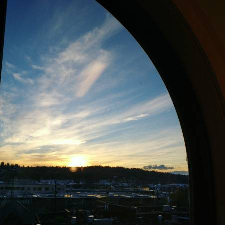 Sunset from office in ballard