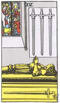 The Four of Swords Tarot Card