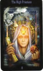 The High Priestess - A Card of the Middle Way, both Study and Intuition