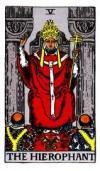 RWS Hierophant Tarot Card