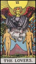 Major Arcana Card 6 The Lovers RWS