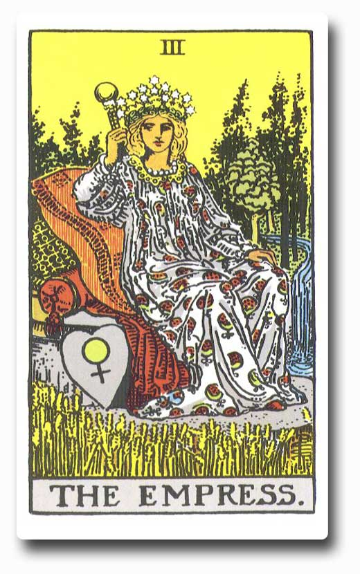The Empress is card 3 of the Major Arcana