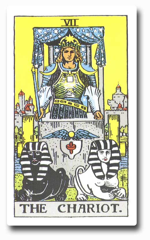 The Chariot is card 7 of the Major Arcana