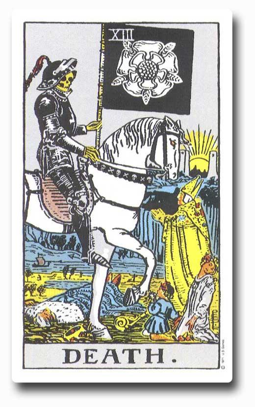Death is card 13 of the Major Arcana