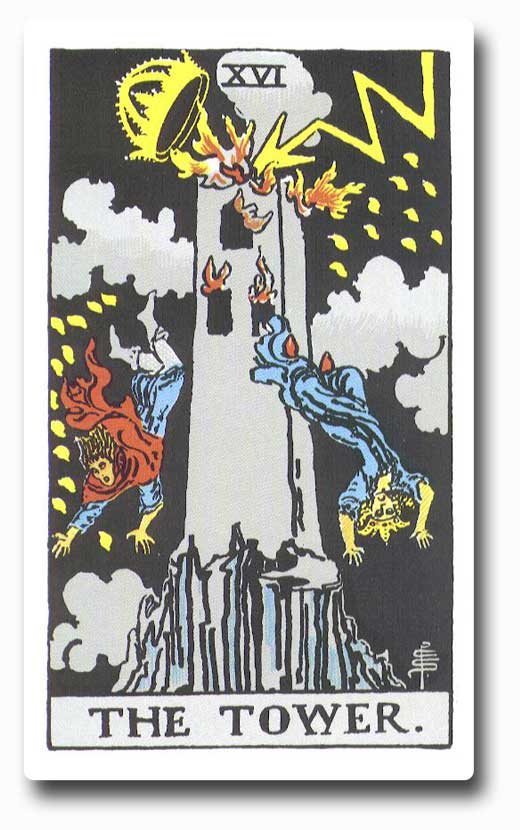 The Tower is card 16 of the Major Arcanaa