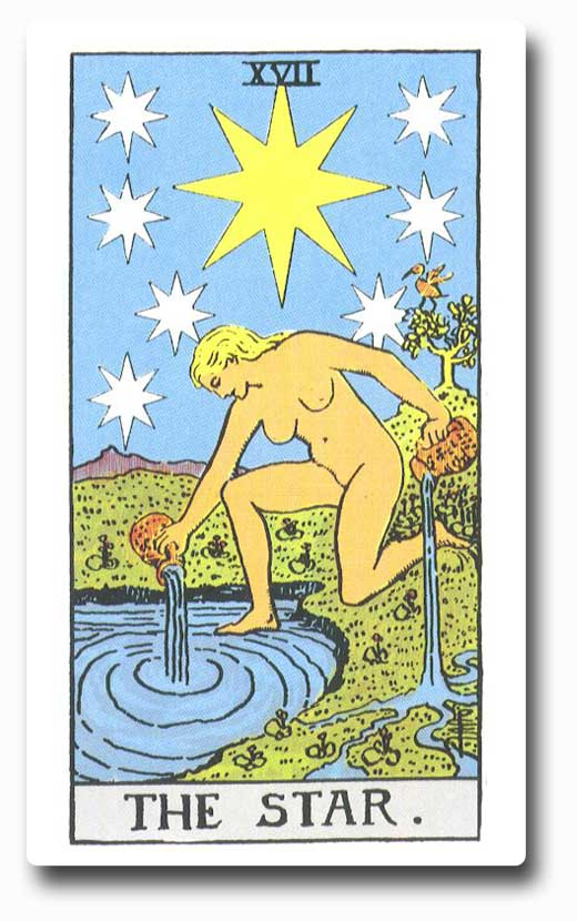 The Star is card 17 of the Major Arcana