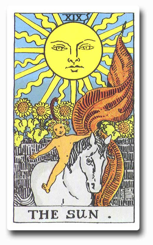 The Sun is card 19 of the Major Arcana