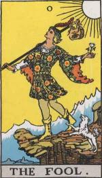 The Major Arcana Tarot card 0: The Fool