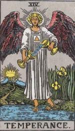 Major Arcana Tarot card number 14: Temperance