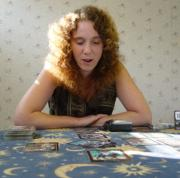 Christiana reads Tarot cards for herself