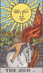 Major Arcana Tarot card number 19: The Sun