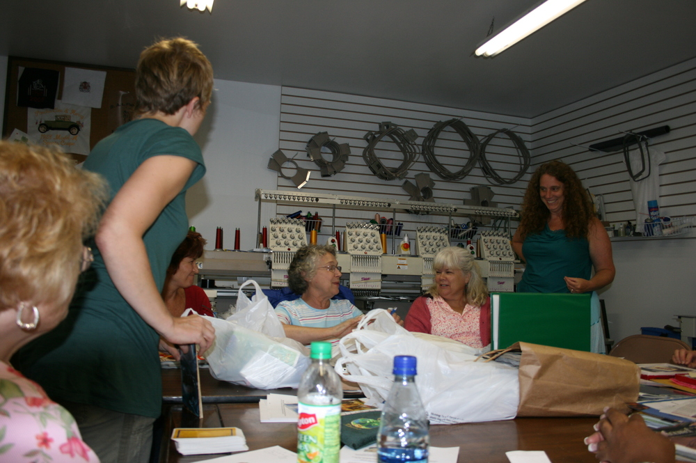 An in-personal Tarot Circle at By the Shore Embroidery in Niantic, CT, circa 2006