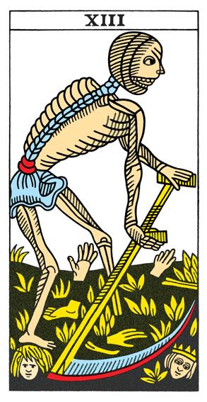 Card 13 from the CBD Tarot de Marseille