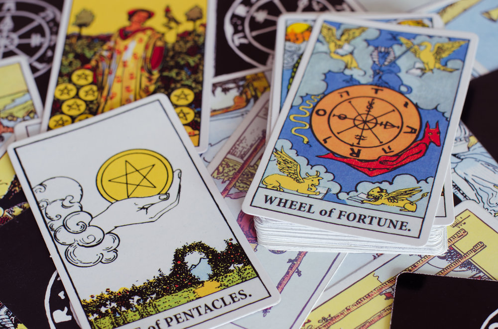 The Tarot - Ace of Pentacles & Wheel of Fortune Card.
