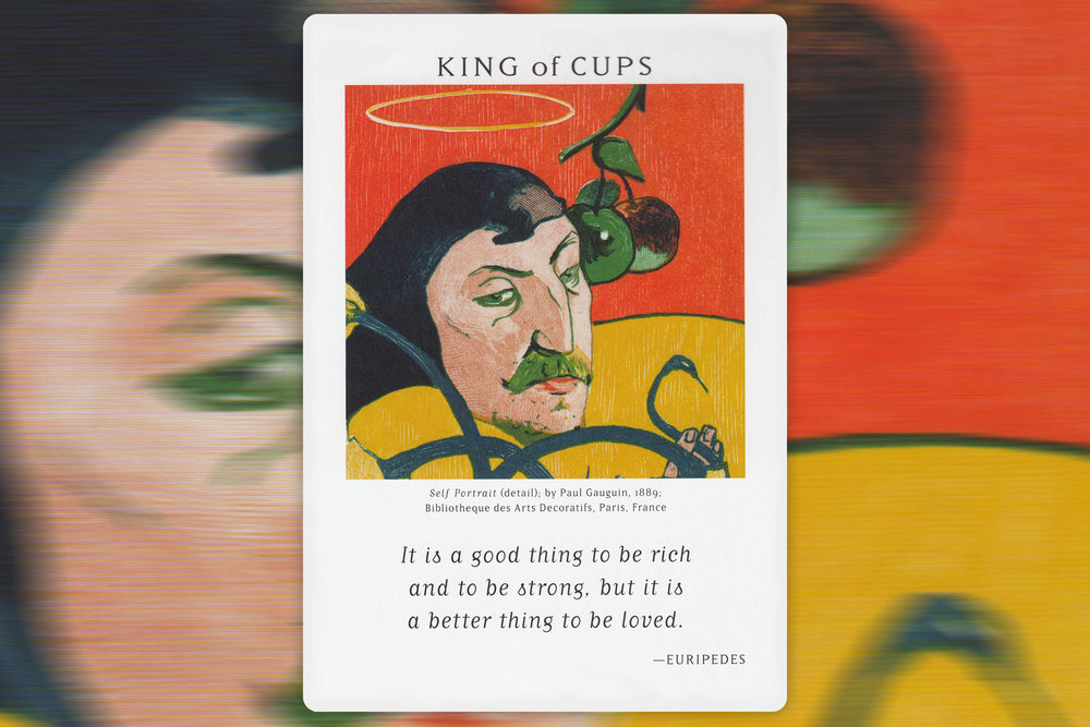 King of Cups from Art of Life Tarot by Charlene Livingstone, Copyright 2012, U.S. Games Systems, Inc.