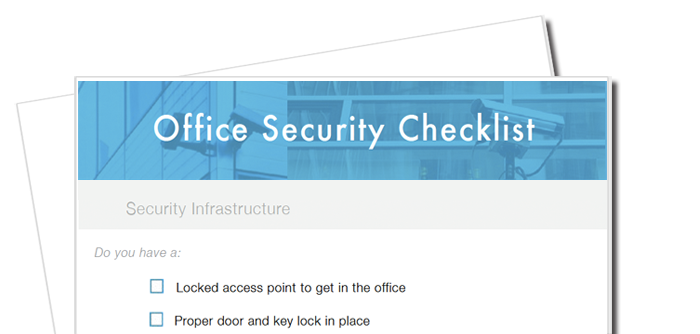 Office Security Checksheet