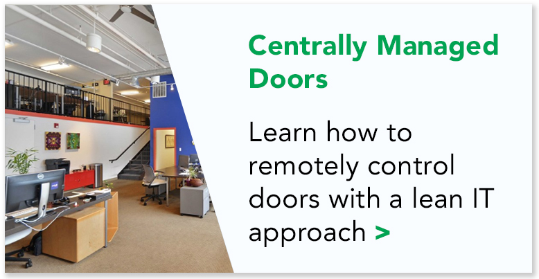 Read more how Colab Evanston remotely controls their doors of their shared workspace facility  >