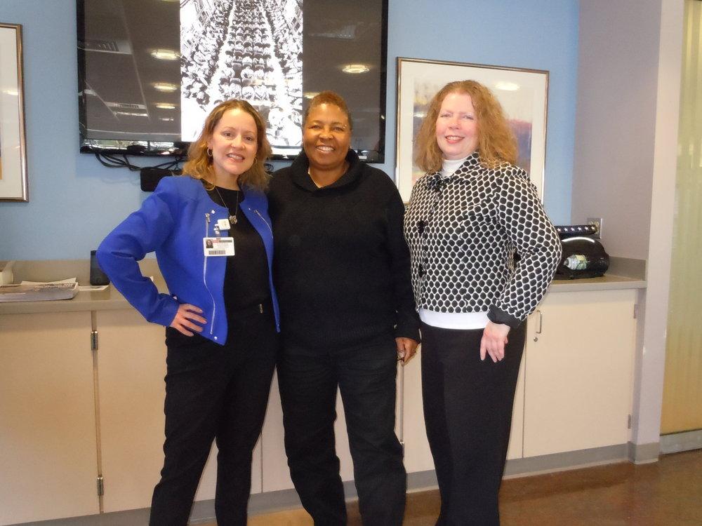 Verna Martin, Director of THE VETS CHAT AND CHEW PROGRAM, at the Robert Wood Johnson Hospital breakfast event for veterans, November 10, 2017, at Robert Wood Johnson Hospital, New Brunswick, NJ.