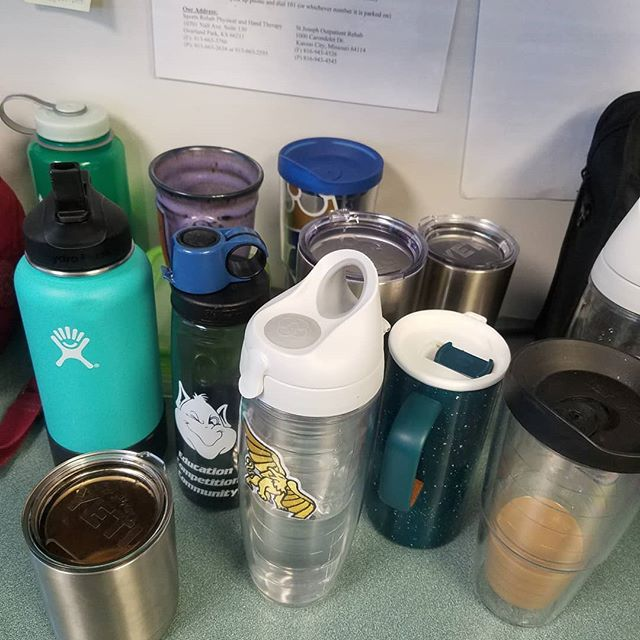 Your therapists definitely rely on caffeine and water to be their best!  #stayhydrated #physicaltherapy #coffeeislife #necessary