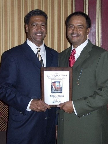 Karry Young shares the 2007 Chicago Association of Realtor's Good Neighbor Award with his brother, Roy Young.