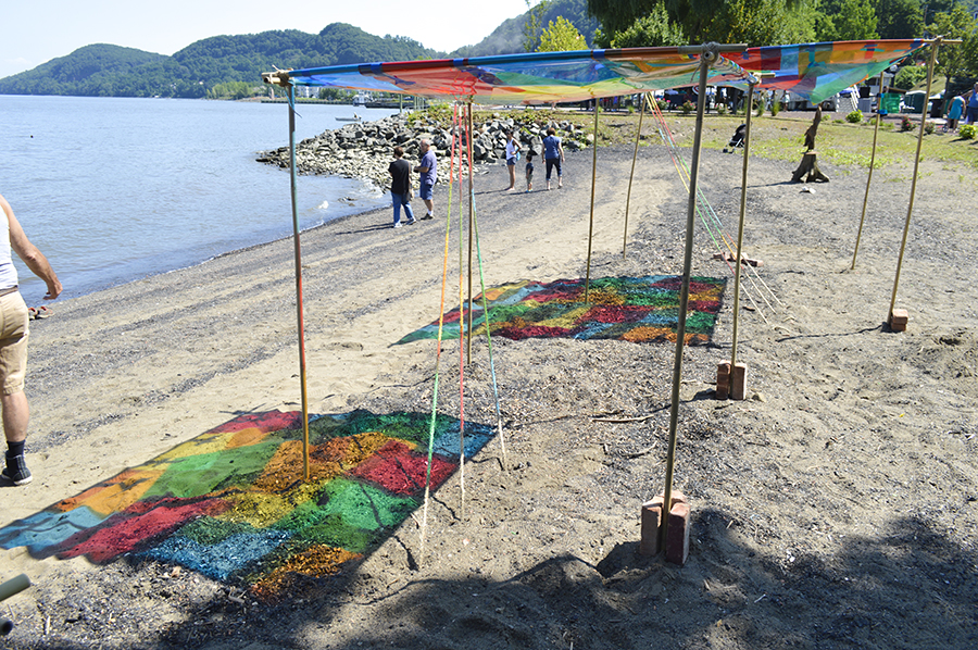 Sculpture installation created by Susan Luss and Richard Vivenzio for the Haverstraw RiverArts Festival