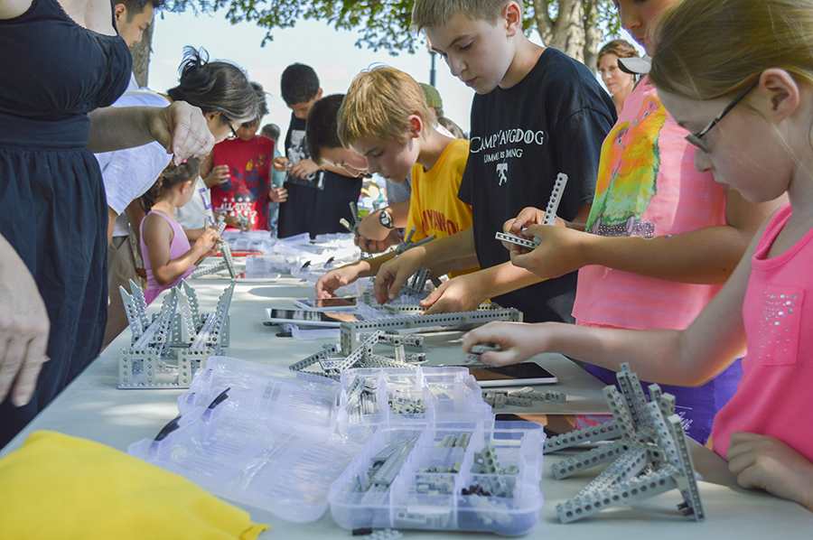 The NY Tappan Zee Bridge Outreach Lego Program was present to teach parents and kids about the new Tappan Zee Bridge and encourage them to build a bridge from Legos.