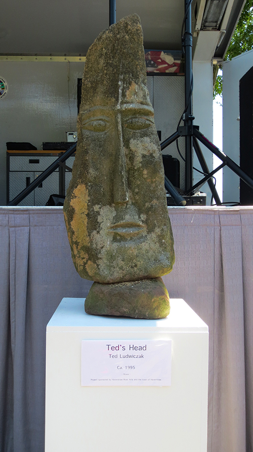 'Ted's Head' by Ted Ludwiczak of the Village of Haverstraw, NY.