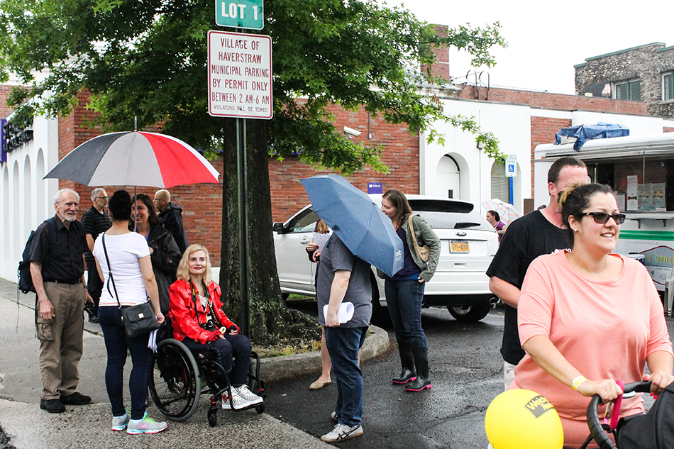 Foodies even come out in the rain to the Flavors of Haverstraw Food Crawl.