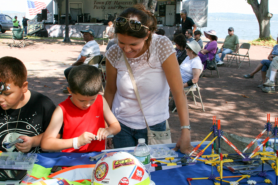Participants in the Tappan Zee Bridge Outreach Lego Project