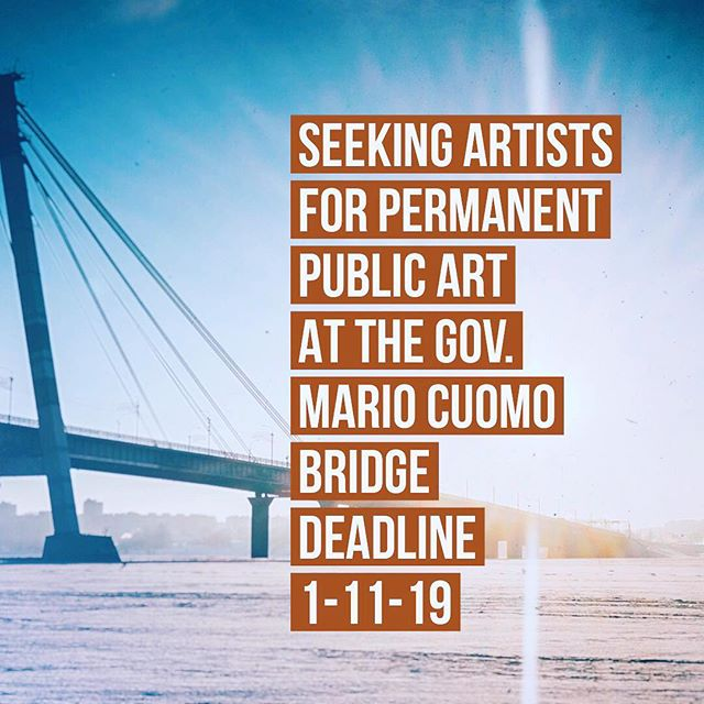 #seekingartists & #SCULPTORS: The Arts Council of Rockland @artscouncilofrockland (ACOR) is partnering with @artswestchester and the NY State Thruway Authority to seek qualified #professionalartists or artist collectives who reside, work or maintain a studio in #NY State to create permanent site-responsive works of #publicsculpture. The artwork will be placed at designated sites on NYS Thruway Authority-owned land on the #RocklandCounty (South Nyack) and Westchester County (Tarrytown) landings of the #governormariocuomobridge next year. Remnant steel, sourced from the decommissioned Tappan Zee Bridge, and provided by the NYState Thruway Authority, may be used as part of the sculpture.  Eligible artists have until midnight, Jan. 11, 2019 to submit their qualifications via the website: artsw.org/mariocuomobridge to ArtsWestchester. Each artist's sculpture commission will be in the amount of $45,000, plus monies to cover engineering costs for each sculpture. Artists will be notified if they are invited to submit a full proposal on or around Feb. 4, 2019. All submissions must be made electronically, via ArtsWestchester's online application portal, using the following link: artsw.org/mariocuomobridge.  #rocklandcountytourism #hudsonvalleyart #hudsonvalleyartist #nyartist #nyart #westchesterartist #publicart #tappanzeebridge #governormariomcuomobridge #publicsculpture #artcommission #sculpturecommission #iloveny #callingallartists