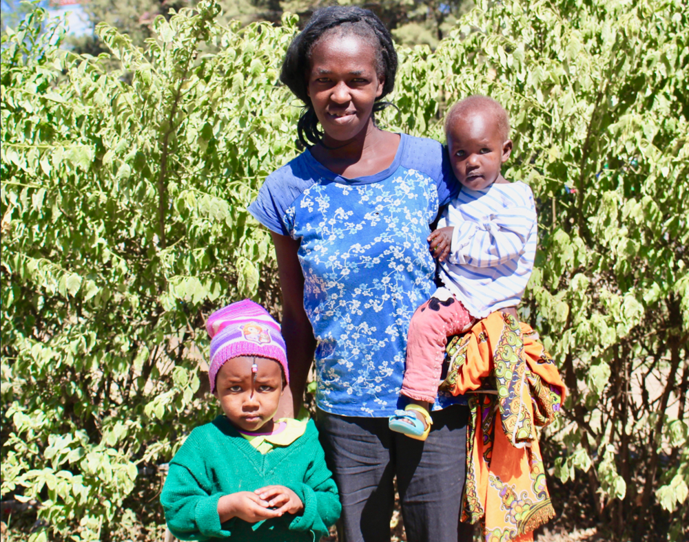 The IAMercy Village:  Fidelis with her daughters Mary Njoki and Regina