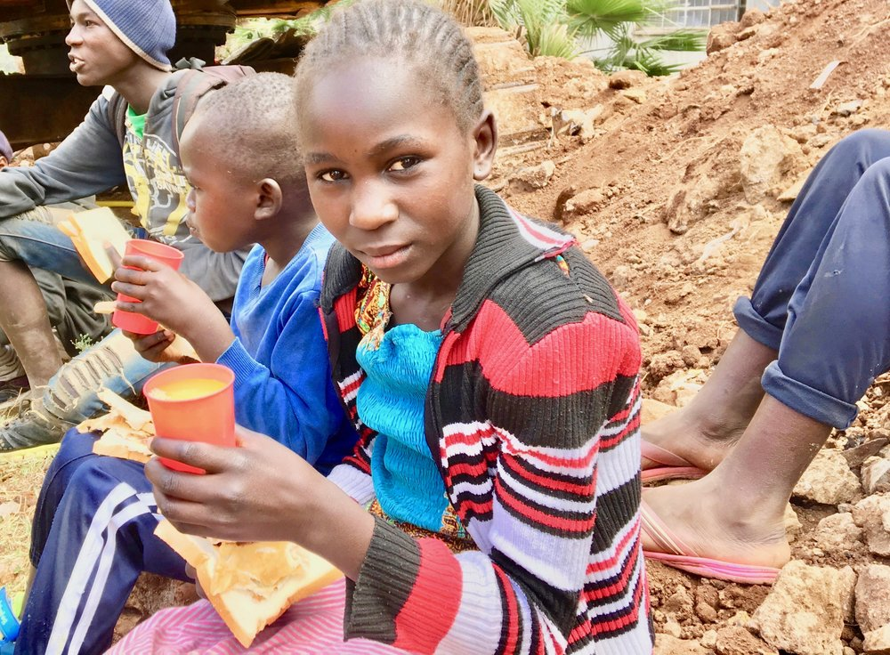 Yvonne was the first girl to have the courage to join the feeding program.