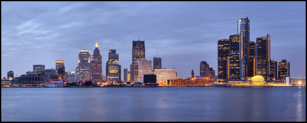 View of Detroit from Windsor, Canada