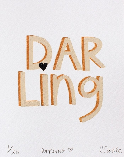 Rachel Castle Darling Heart print.