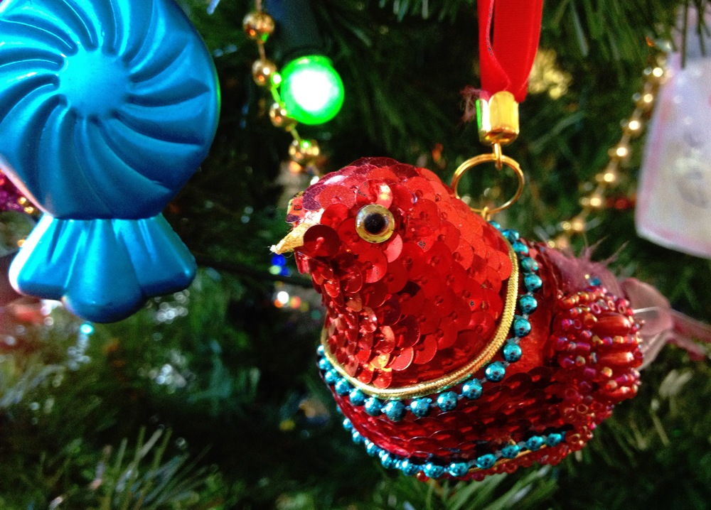 A sequined bird. a plastic lolly. No rules!!