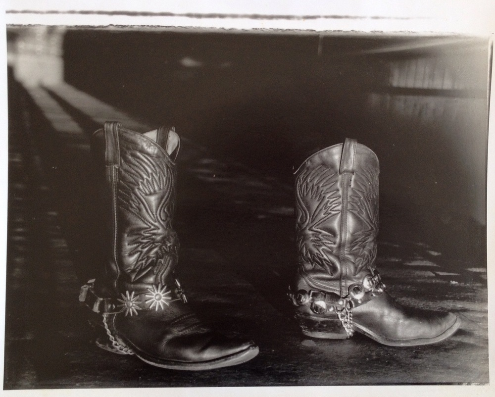 The photo I took of my beloved boots at university C1992. (Yes it was taken on film. Yes. I am ancient.)