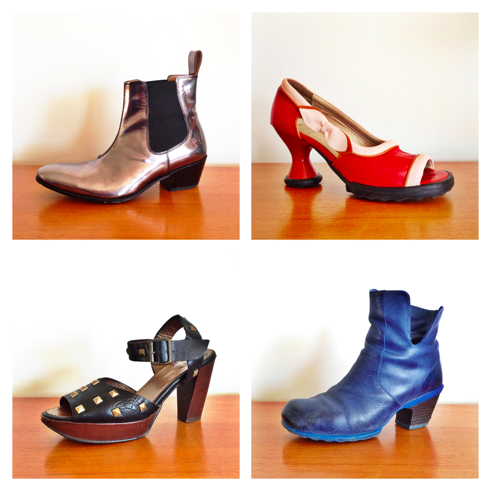 A small selection of some other fave Fluevogs I have cleverly worked into the family budget...
