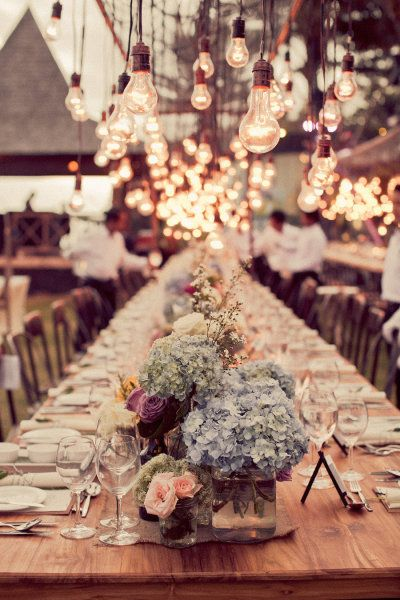 This incredibly romantic wedding setting via Pinterest from Style Me Pretty