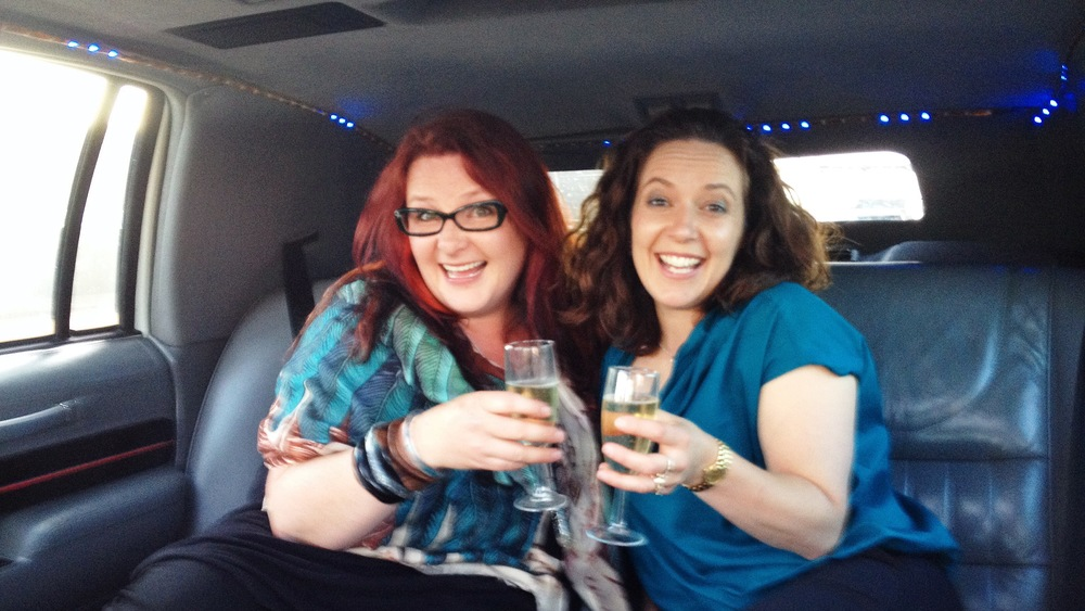 Champagne + Friends + Limo + Warm Summer Evening + Night Off + Oprah = !!!!!!!!!!!!!!!