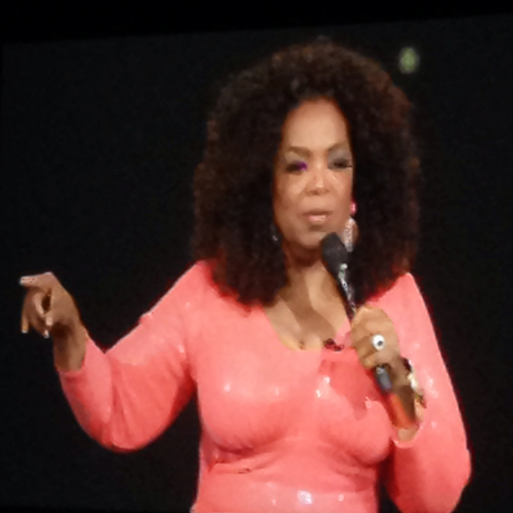 This is Oprah getting cross at me for not listening to my inner voices... (It's a photo of the screen... sorry about the pixels)