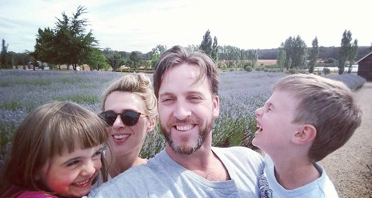 Jodi & Damien and their happy wee ones - and all that amazing lavender!