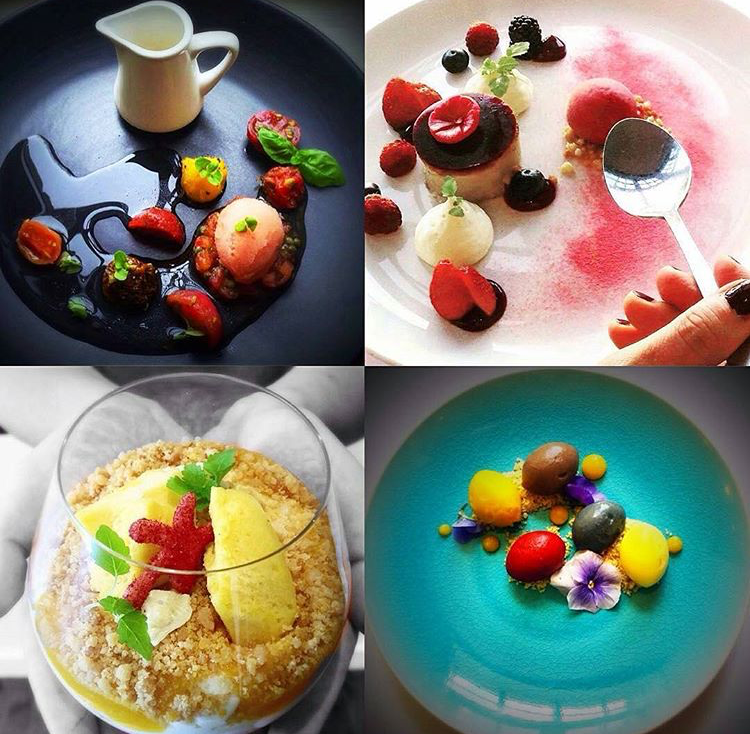 Oh seriously... here are some of Santi's desserts. So beautiful and creative... and um... DELISH! See more of his heavenly creations on his Instagram feed here.