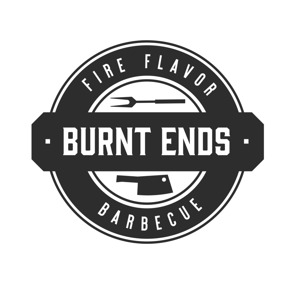 Burnt Ends logo in charcoal